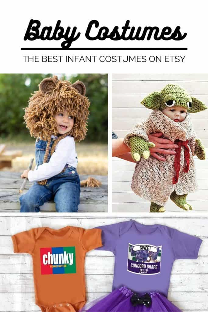 The best baby costumes on Etsy! Over 24 adorable costumes to buy for your infant this Halloween.