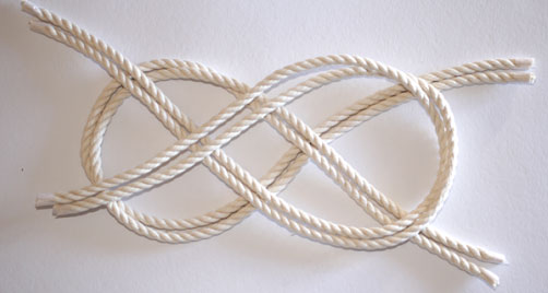 Step 2 to tie a nautical knot