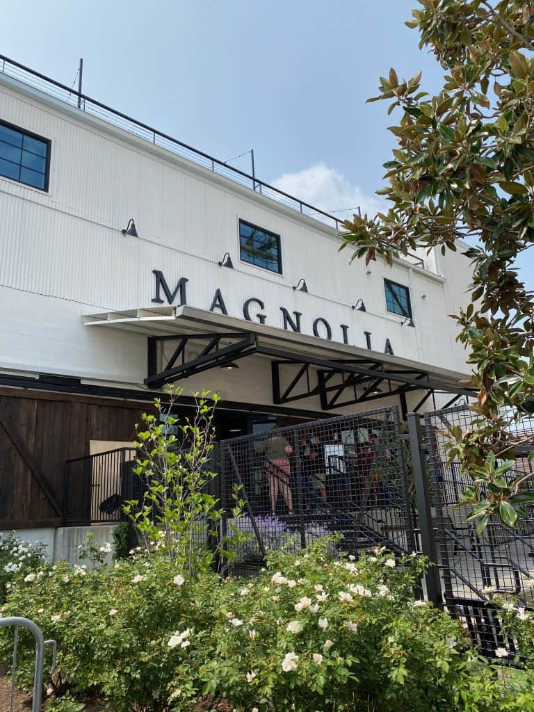 The outside of Magnolia Market in Waco Texas