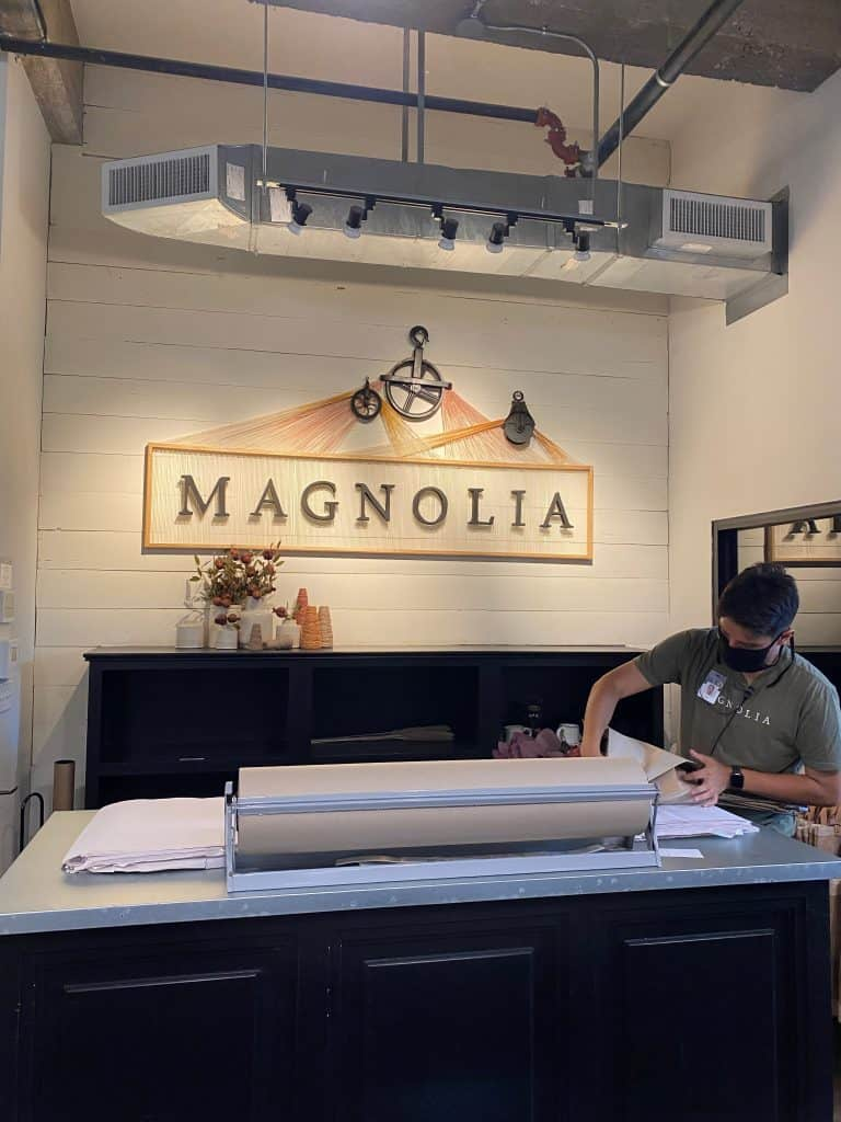 Behind the register at Magnolia Market