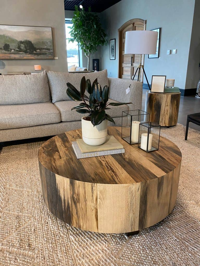 Living room display, home decor inspiration at Magnolia Home in Waco