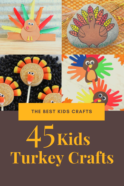 45 turkey crafts for kids