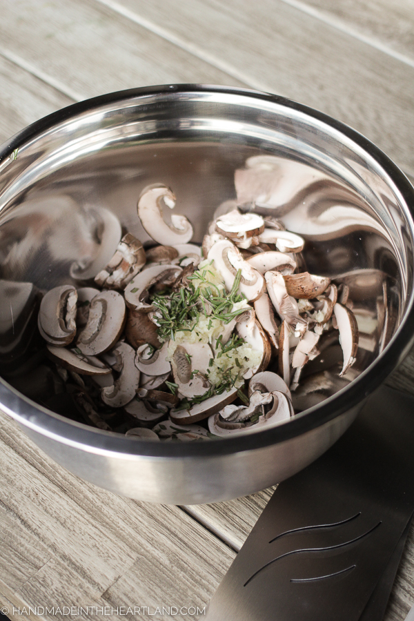 mushrooms and spices in a bowl