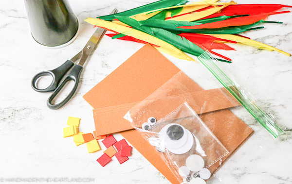 supplies for making a child's turkey headband