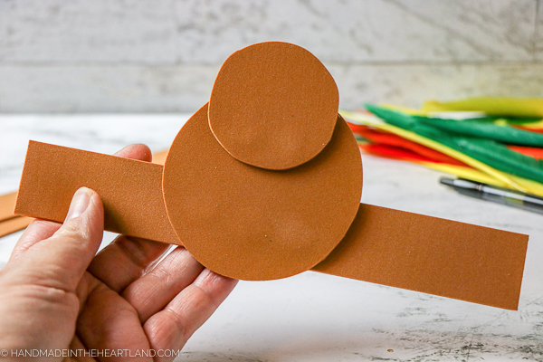step by step how to make a turkey headband craft