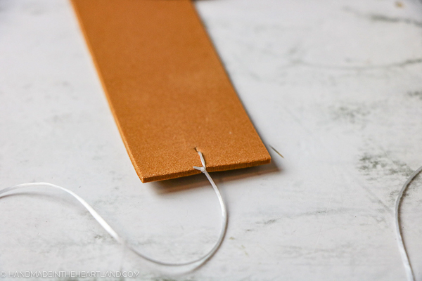 how to tie back of turkey headband craft