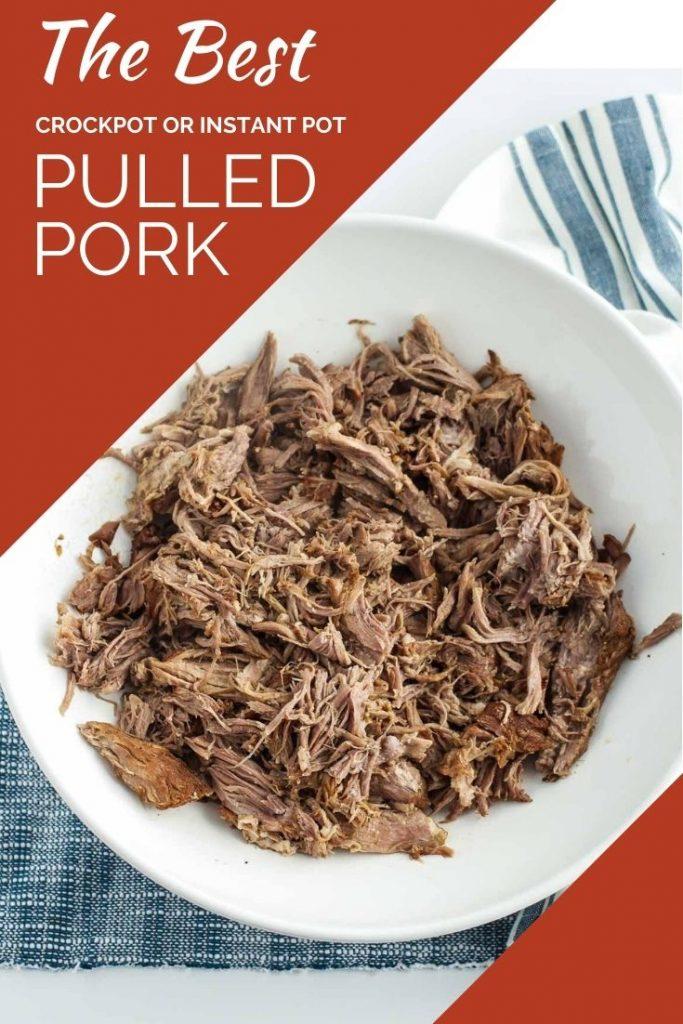 pulled pork in serving bowl