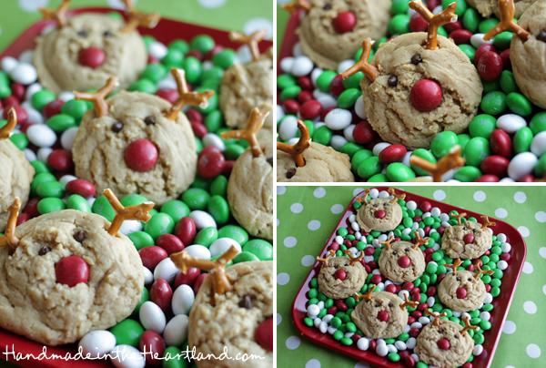 Cute and festive reindeer Christmas cookies