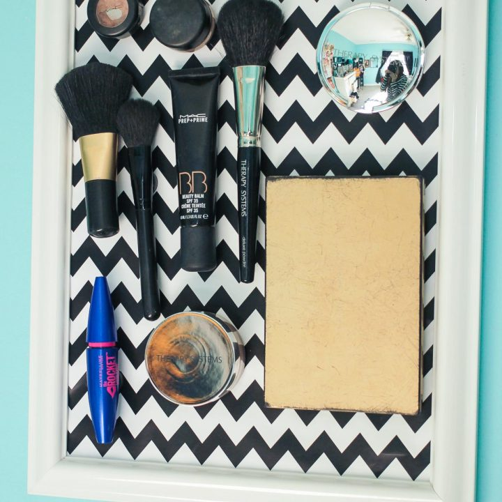how to make a magnetic makeup board