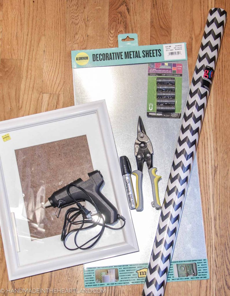 supplies to make a magnetic makeup board