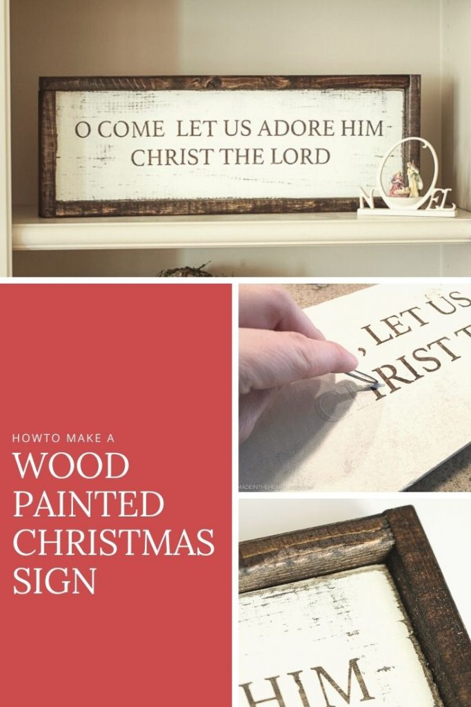 How to make a wood painted rustic Christmas sign