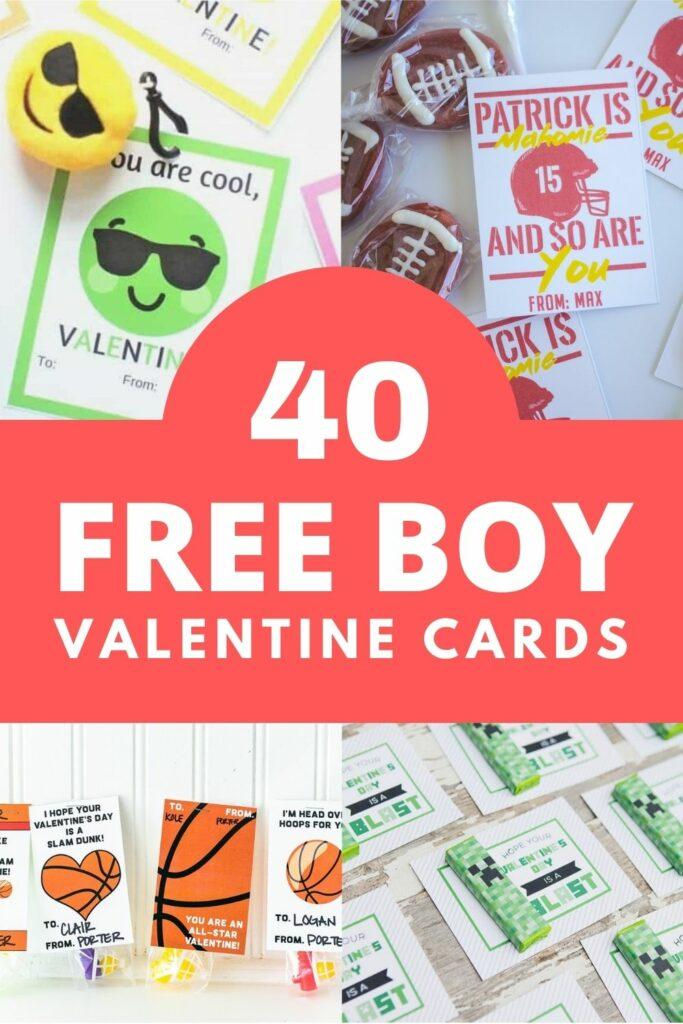40 free boy valentine cards