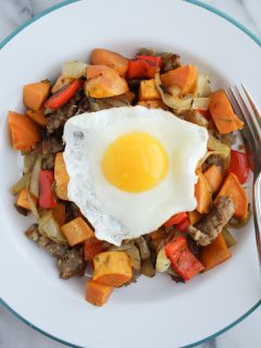 sweet potato sausage hash recipe
