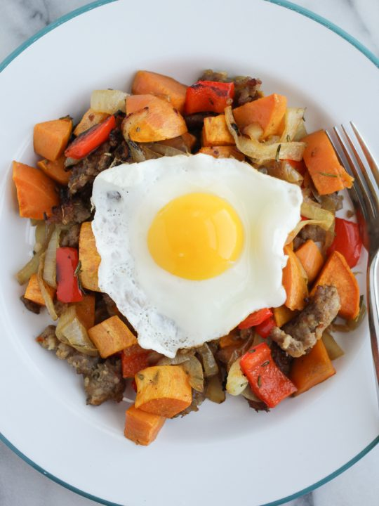 sweet potato sausage hash recipe