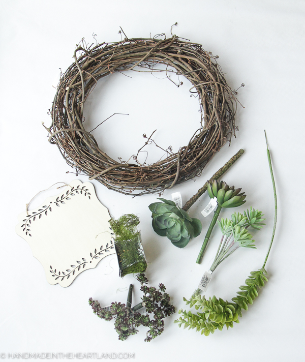 supplies for making succulent wreath