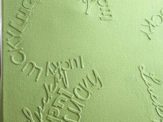 4 leaf clover monochromatic lucky canvas art