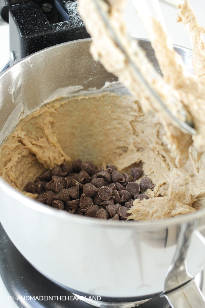 banana bread batter with chocolate chips